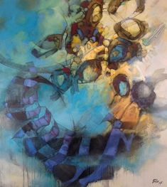 abstract art by Victoria, Canada painter, Blu Smith. contemporary abstract art paintings in acrylic and oils.