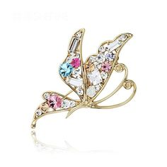 Bling crystals butterfly brooch pin, corsage, scarf pin * To view further for this item, visit the image link.