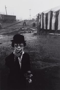 "atomic-flash: ""Circus Dwarf, Palisades, New Jersey, 1958 - Photographer: Bruce Davidson """