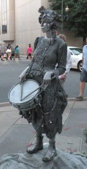 The SilverDrummerGirl - one of many downtown Asheville street performers!