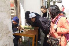 A handwriting artist of Zhouzhang water town @ Shanghai, China, 2007