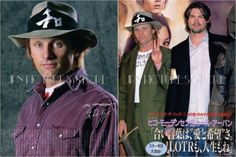 Viggo Mortensen Karl Urban in Japan 2003 JPN Picture clippings 2 Sheets XD W   eBay... How yummy is he here?!?!