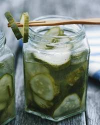#BobbyFlay's simple #pickles have just the right amount of garlic and dill and are intensely crunchy and refreshing right out of the refrigerator.
