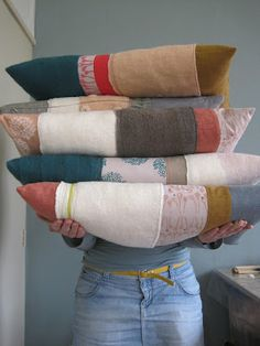 pieced pillows