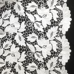 The vineyard inspired design of our Guipure French Venice Lace is 52/53'' inches wide and 100% polyester. This fabric is available in several colors and sold by the yard. This wonderful lace is perfec