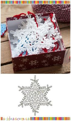 Crochet White Snowflake Tree Ornaments Christmas Snowflakes Set Of 6 Ornaments Hand Crochet Snowflake Tree Decoration Winter Wedding Decor Crochet Snowflake Pattern, Christmas Crochet Patterns, Holiday Crochet, Crochet Snowflakes, Christmas Snowflakes, Christmas Knitting, Crochet Home, Crochet Crafts, Snowflake Garland