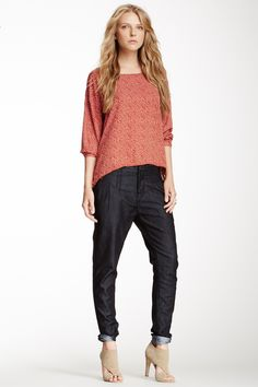 Love the relaxed/skinny cut. Citizens of Humanity pleated relaxed skinny leg jean.