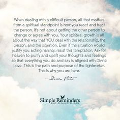 """""""Doreen Virtue: When dealing with a difficult person, all that matters from a..."""" by Doreen Virtue"""