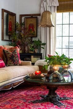 Far Above Rubies: Bold, eclectic Fall Tour Corner Sofa And Chair, Living Room Decor, Living Spaces, Autumn Interior, Boho Kitchen, Interior Decorating, Interior Design, Decoration, Home And Living