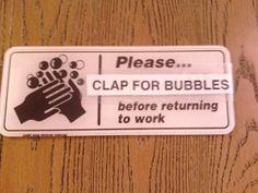 Clap for bubbles!
