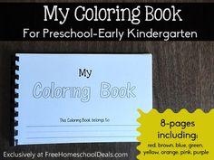 Free Download: My Coloring Book for Preschool-Early Kindergarten