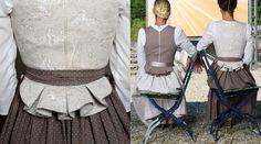 Nice back detail - Angelika Böhm – Trachtendesign — Sommerkollektion 2015 Mehr Drindl Dress, Dress With Shawl, Dress Outfits, Vestidos Vintage, Vintage Dresses, Boho Fashion, Fashion Outfits, Womens Fashion, Celtic Dress