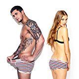 #6: Lover's UnderwearNeartime Stripe Stars Women Underpants Boxers Briefs Mens Shorts