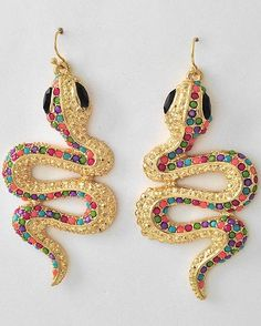 love these colorful Snake #earrings $8