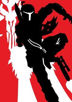 boba fett sillouette by goth-thug.deviantart.com on @deviantART
