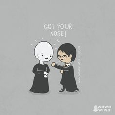 "Ilustraciones Wawawiwa! Harry Potter ""Got your nose!"""