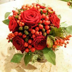 Bouquet sposa in rosso