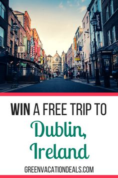 Patrick's Day Giveaway & Instant Win Game win free roundtrip airfare to Dublin Ireland, hotel stay, Guinness Brewery tour, etc. Dublin Travel, Europe Travel Tips, Packing Tips For Travel, Ireland Travel, Dublin Ireland, Europe Packing, Traveling Europe, Backpacking Europe, Packing Lists