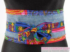 DIY Fashion: Wrap Belt from Old Jeans.loving this idea Diy Old Jeans, Recycle Jeans, Fashion Belts, Diy Fashion, Fashion Accessories, Diy Outfits, Sewing Clothes, Diy Clothes, Diy Moda