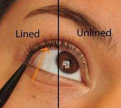 "Tightlining  is good for those who don't want to look too ""done."" 15 Easy Hacks For Perfect Eyeliner"