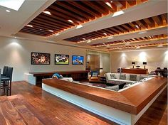 <p>Building your own man cave is one of the greatest moments in a man's life, so enjoy these awesome examples since your significant other won't let you have your own.</p>