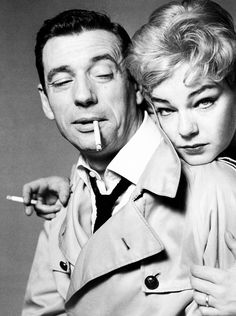 AT HOTEL COLUMBE d'OR,ST.PAUL DE VENCE, GREAT ACTING TALENTS: Simone Signoret & Yves Montand