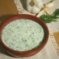 Tarator is a traditional Bulgarian soup. It's served cold and is very refreshing on a hot day.