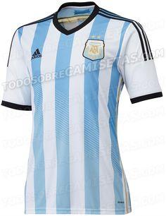 Argentina já tem seu uniforme para a Copa de 2014 - http://www.colecaodecamisas.com/argentina-ja-tem-seu-uniforme-para-a-copa-de-2014/ #colecaodecamisas #Adidas, #Copadomundo2014