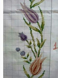 Prayer Rug, Hand Embroidery, Cross Stitch Patterns, Diy And Crafts, Projects To Try, Handmade, Cross Stitch Embroidery, Scrappy Quilts, Tulips