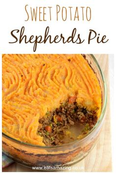 This delicious Shepherds Pie recipe with Sweet Potato Mash is a healthier version of a favourite classic family meal idea that kids will love #sweetpotato #easyrecipe #familyfood #kidsfood #comfortfood #britishfood #lamb #recipe #recipeoftheday