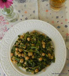Ρεβύθια με σέσκουλα Sprouts, Chickpeas, Vegetables, Sisters, Recipes, Food, Chic Peas, Recipies, Essen