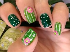 Cactus nails for summer