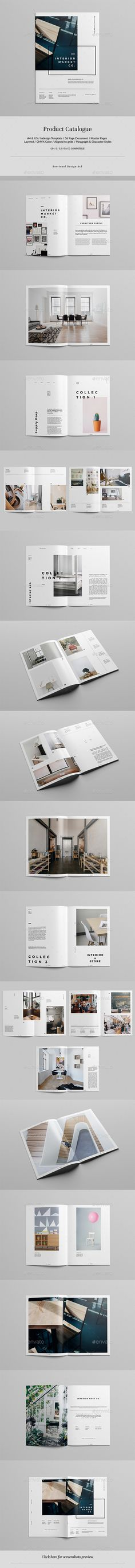 furniture and interior catalog | brochure template, brochures and