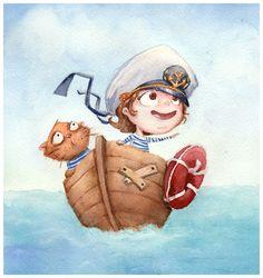 Сообщество иллюстраторов | Иллюстрация Kris Bez - Мореплаватели. 2D. Акварель
