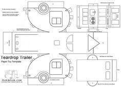 teardrop paper toy template coloring page House Template, Putz Houses, Mini Houses, Glitter Houses, Teardrop Trailer, Paper Houses, Cardboard Houses, Paper Models, Diy