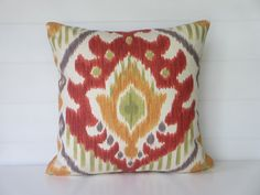 Fall Pillow Cover IKAT Pillow Cover by ComfortsofHomeDecor on Etsy