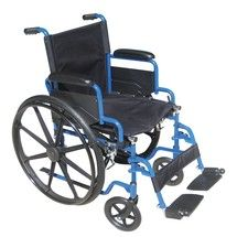 #wheelchair #Denver - Blue Streak Wheelchair with Flip Back Desk Arms and Swing Away Footrest - bls20fbd-sf