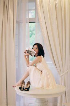 Korean Fashion Dress, Asian Fashion, Women's Fashion Dresses, Korean Fashionista, Yoon Sun Young, Korean Short Hair, Festival Dress, Cute Beauty, Girl Photography Poses