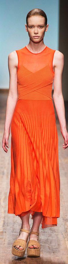 Salvatore Ferragamo Collection Spring 2015 Ready to Wear Orange Fashion, Colorful Fashion, Love Fashion, Fashion Design, Couture Fashion, Runway Fashion, Womens Fashion, Fashion Trends, Persimmon Color
