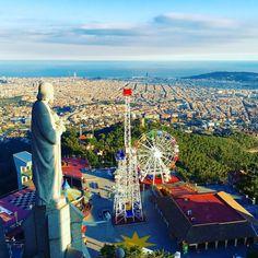 Theme park with a view! Tibidabo, Barcelona