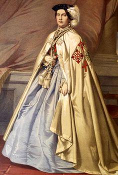 Isabel II de España Kingdom Of Navarre, Fernando Vii, Spanish King, Spanish Royalty, Bourbon, Court Dresses, Royal Queen, Isabel Ii, Historical Women