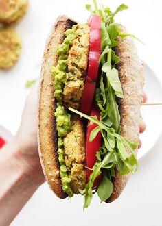 Zucchini Chickpea Cashew Patty Sandwich   The Kitchen Paper Sloppy Joe, Vegetarian Recipes, Healthy Recipes, Cashew Recipes, Delicious Recipes, I Love Food, Good Food, Food Styling, Whole Food Recipes