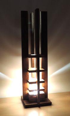 Inspiration Lights Decorative For Your Room Lighting Concepts, Lighting Design, Light Art, Lamp Light, Bamboo Lamp, I Love Lamp, Rustic Wood Walls, Oak Stain, Wooden Lamp