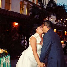 """""""The dance expressed our love for each other,"""" says Lucia. """"It was a breathtaking moment."""" Photo: Christine Farah. #weddings"""