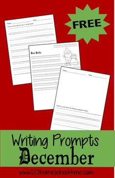 Good Pic FREE Christmas Writing Promtps for Kids Style Experts found that Christmas trees and joyful food may cause fevers and sensitivity responses in l 1st Grade Writing Prompts, Christmas Writing Prompts, Writing Prompts Funny, Writing Prompts For Kids, Kids Writing, Writing Activities, Writing Rubrics, Paragraph Writing, Opinion Writing