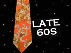 1960s Psychedelic Necktie - Vintage Wide Neck Tie with Vibrant Paisley - Loud Tie by LunaJunctionVintage on Etsy