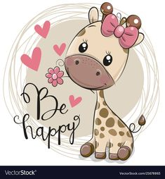 Cute Cartoon Giraffe with flower. Greeting card Cute Cartoon Giraffe with flower royalty free illustration Cartoon Giraffe, Cute Cartoon Girl, Cute Cartoon Animals, Cute Animals, Cute Animal Drawings, Cartoon Drawings, Cute Drawings, Baby Cartoon Drawing, Cute Images