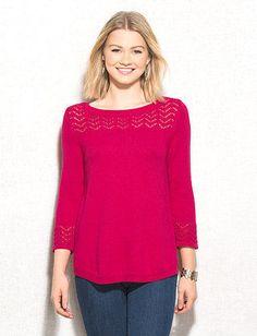 Pointelle Trim Sweater