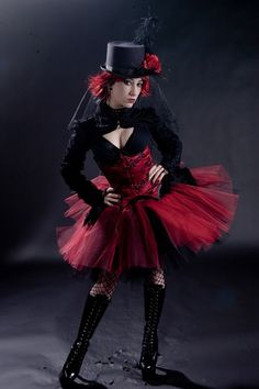 Ultra Dark Ring Master tutu skirt huge poofy by SistersOfTheMoon, $65.00
