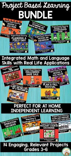 We are all scrambling to keep our kids learning at home. These projects are perfect for students in grades A variety of language and math skills are used in relevant independent projects. 14 projects included in this bundle. Teacher Created Resources, Math Activities, Teaching Resources, Math 5, Teaching Math, Math Skills, Math Lessons, Project Based Learning, Kids Learning